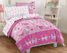 Twin Size Comforter Set Girls Bed in a Bag Kids Bedding Princess Pink Microfiber