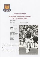PAUL ALLEN WEST HAM UNITED 1979-1985 ORIGINAL HAND SIGNED PHOTOGRAPH