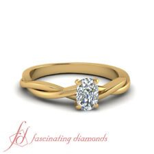3/4 Carat Diamond Cushion Cut Twisted Vine Solitaire Engagement Rings FLAWLESS