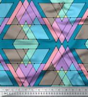 Soimoi Fabric Triangle Geometric Printed Craft Fabric by the Meter-GMD-575F