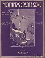 1919 MacMeekin and MacMeekin Private Press Sheet Music (Mother's Cradle Song)