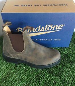 Blundstone 585 Premium Rustic Brown Leather Size 6. Comfort & Durability