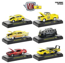 M2 Machines 1:64 Auto-Thentics Mooneyes 2018 (Release 2) Set of 6 Cars Diecast