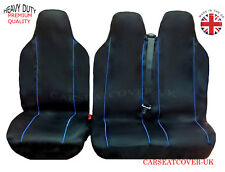 PEUGEOT EXPERT (16 ON) HEAVY DUTY BLUE TRIM VAN SEAT COVERS - SINGLE + DOUBLE