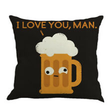 "With ""i Love You Man"" Art Cartoon Beer Cup Linen Pillow Pillowcase O5u2 U5p5"
