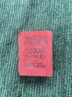 Antique Miniature Book Deutsch - English Dictionary C. 1930s Liliput 3