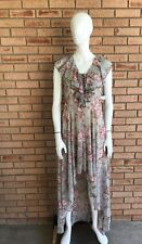 Maxi Dress Women's Juniors City Triangles Pink, Sage Floral New. E17