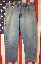 Ralph Lauren Polo Denim Relaxed Jeans Sz 40 x 32 Distressed Look Faded Blue