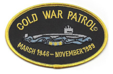 "4.5"" Navy Submarine Cold War Patrol 1946-1989 Embroidered Patch"