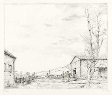 WERNER TÜBKE - STÄLLE UND PAPPEL IN SEEGA (STILLE STUNDE) - Lithografie 1988