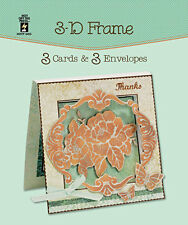 3D FRAME DIE-CUT CARDS & ENVELOPES-Greeting Card-Paper Craft-Blank Templates