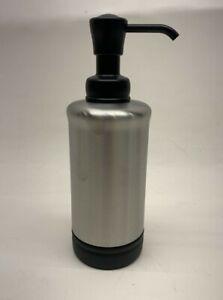 InterDesign York Pump Soap Dispenser Metal Matte Black Brushed Nickel