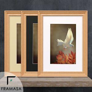 Oak Picture Frame Walnut Poster Size Frames Big Swept Photo Frames With Mounts
