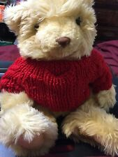 Giorgio Beverly Hills 2001 Collector's Choice Knitted Red Sweater Fluffy Bear