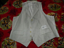 New With Tag BROOKS BROTHERS Lapel Vest Classic Waistcoat 100% Linen size XL