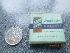 Vintage Miniature Dolls House Packet of 20 Woodbines Cigarettes
