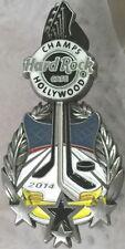 Hard Rock Cafe HOLLYWOOD 2014 LA KINGS Hockey Champs NHL Guitar PIN - HRC #81116
