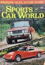 Sports Car World Mag Jan 1968 Toyota Corona 1600 GT Hardtop T40 T50