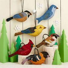 Rockin Robin Christmas Bird Hanging Felt Decoration Ornament ~ Design Vary