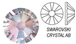 Swarovski 2058 Foiled Flatback Clear Crystal AB - Many Sizes - Glue on