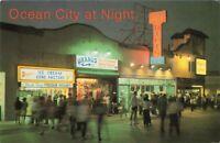 Postcard Ocean City at Night New Jersey