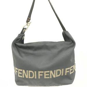Auth Fendi Shoulder bag Nylon black From Japan 1024*3111