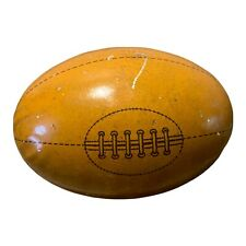 Vintage 1930'S German Tin Football Rugby Ball Candy Holder Litho Germany Antique