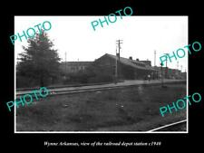 OLD 8x6 HISTORIC PHOTO OF WYNNE ARKANSAS THE RAILROAD DEPOT STATION c1940 1