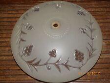 Vintage GLASS CEILING FIXTURE LIGHT SHADE GLOBE 1 HOLE grape vive pattern