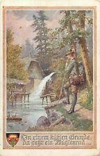 ak Deutscher Schulverein postkarte water mill