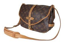 LOUIS VUITTON Saumur 30 Monogram Canvas Leather Crossbody Shoulder Bag LS3349