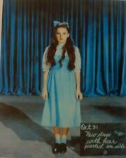 RARE STILL THE WIZARD OF OZ PRODUCTION STILL COLOR NEW DRESS TEST