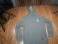 ZOO YORK MENS CORDUROY HOODIE LIGHTWEIGHT L Cotton & Polyester Good Shape