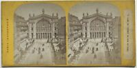 Parigi Istantanea Gare Del Nord Foto Stereo Vintage Albumina c1865