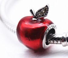 Christmas Authentic Pandora Silver Disney Snow White's Apple Charm Bead #791572E