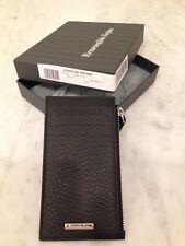 Ermenegildo Zegna Slim Leather Card Wallet - Black, New with Tags