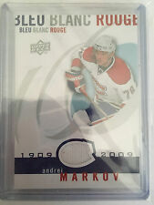 2008-09 UD Montreal Canadiens Centennial Bleu Blanc Rouge Jersey Andrei Markov