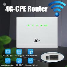 300mbp 4G LTE WiFi CPE Router Wireless Sim Card LAN Modem Antenna 32 Users KD