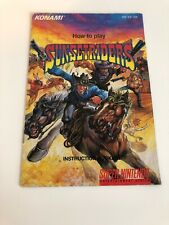 Sunset Riders (SNES) Manual    *** Authentic Manual ***