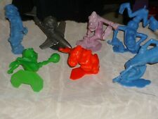 "RARE LOT OF 7 VINTAGE MARX NUTTY MADS 5"" FIGURES DEMON MARINER BOWLER HOT ROD+++"