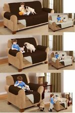 Luxury double sided single seater pet pad protector throw in brown and cream