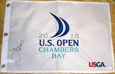 Jordan Spieth Signed 2015 US Open flag JSA LOA - Chambers Bay  *Masters
