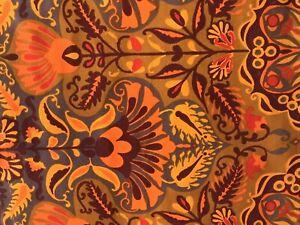 Jonelle Fabric 1966 'Marrakesh' Orange, Tangerine & Chestnut Abstract Floral FQ