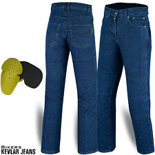 """Mens Motorcycle Motorbike Jeans Denim Reinforced With Protective Kevlar Lining 34"""""""
