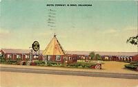El Reno OK ~ Motel Conway ~ Route 66 ~ Indian Curio Shop ~ Tipi ~ Roadside Linen
