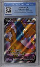 Graded Pokemon Card CGC 🔥Charizard V SWSH050 🔥 Champion's Path Promo! PSA