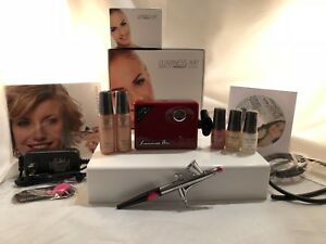 Luminess Air Airbrush System Legend Red Pink Tip No Drip Stylus 5pc Med Makeup