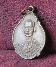 1975 King Bhumibol Adulyadej Rama 9 IX Thailand Medal Amulet BE2518 Thai