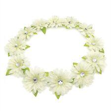 Fleur ton crème et pierre Garland Bandeau Couronne Festival front bande de cheveux
