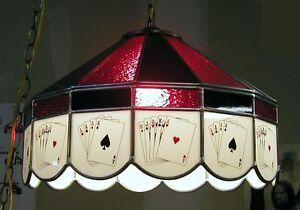 4 Aces Poker Glass Card Table Light Texas Hold Em